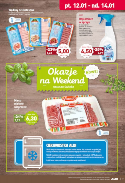 Aldi gazetka promocyjna od 2018-01-08, strona 19