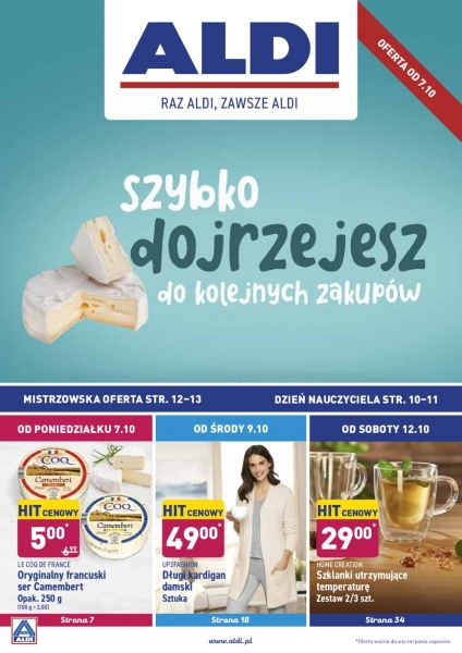 Aldi gazetka promocyjna od 2019-10-07, strona 1