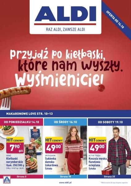 Aldi gazetka promocyjna od 2019-10-14, strona 1