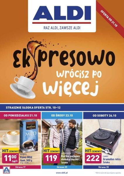 Aldi gazetka promocyjna od 2019-10-21, strona 1