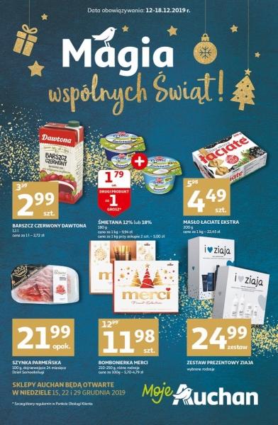 Auchan gazetka promocyjna od 2019-12-12, strona 1