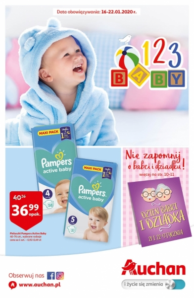 Auchan gazetka promocyjna od 2020-01-16, strona 1