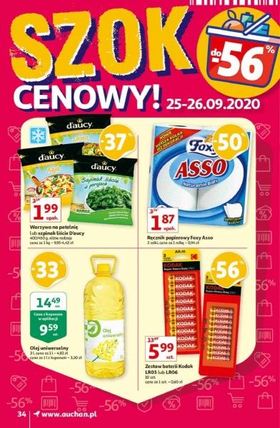 Auchan gazetka promocyjna od 2020-09-25, strona 34