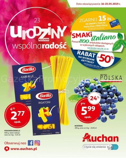 Auchan gazetka promocyjna od 2019-05-16, strona 1