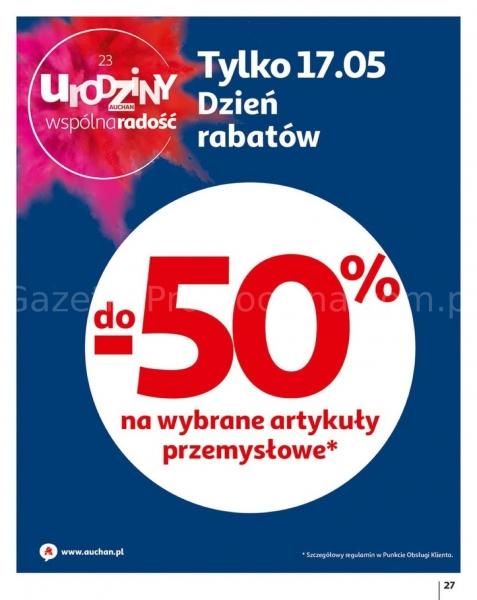 Auchan gazetka promocyjna od 2019-05-16, strona 27
