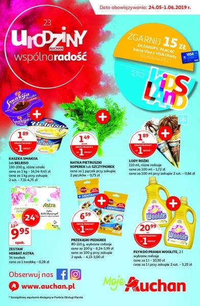 Auchan gazetka promocyjna od 2019-05-24, strona 1