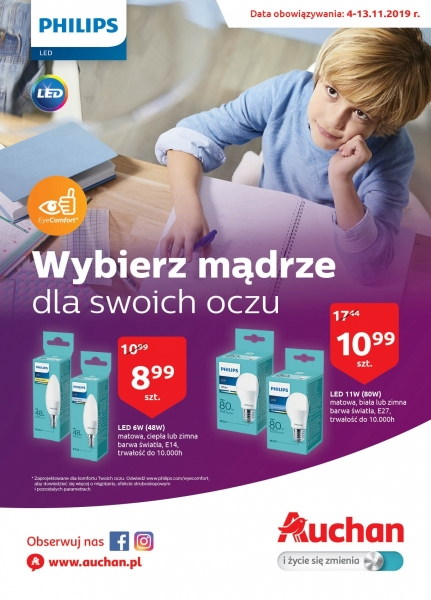 Auchan gazetka promocyjna od 2019-11-04, strona 1