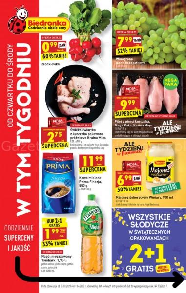 Biedronka gazetka promocyjna od 2020-03-26, strona 1