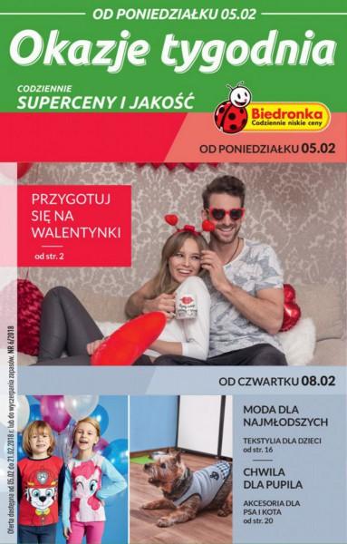 Biedronka gazetka promocyjna od 2018-02-05, strona 1