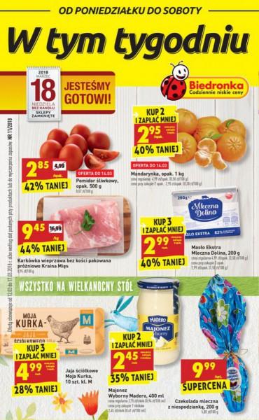 Biedronka gazetka promocyjna od 2018-03-12, strona 1