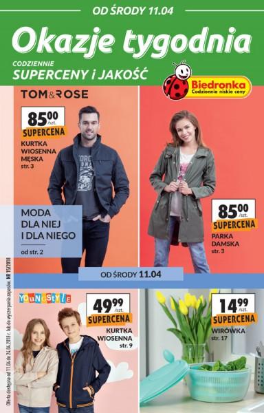 Biedronka gazetka promocyjna od 2018-04-11, strona 1