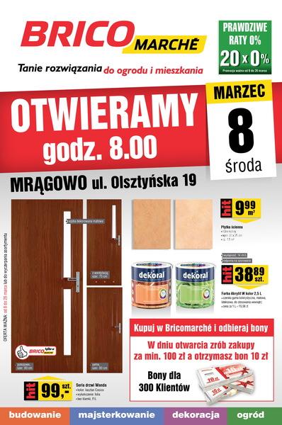 Bricomarche gazetka promocyjna od 2017-03-08, strona 1