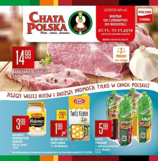 Chata Polska gazetka promocyjna od 2019-11-07, strona 1