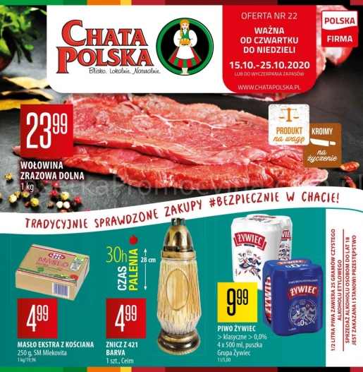 Chata Polska gazetka promocyjna od 2020-10-15, strona 1