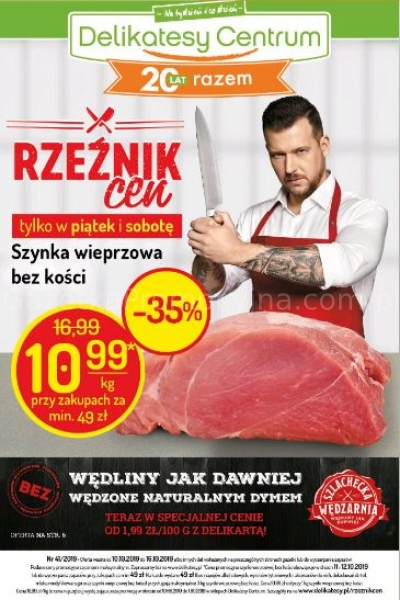 Delikatesy Centrum gazetka promocyjna od 2019-10-10, strona 1