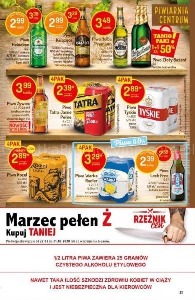 Delikatesy Centrum gazetka promocyjna od 2020-03-26, strona 21