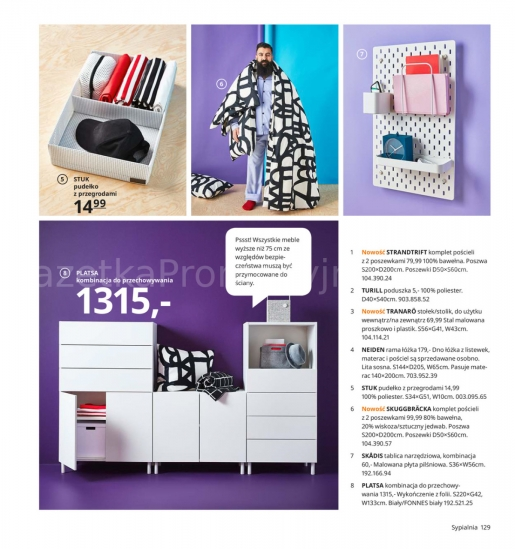 Ikea gazetka promocyjna od 2019-08-26, strona 129