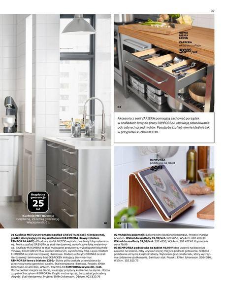 Ikea gazetka promocyjna od 2016-08-22, strona 39