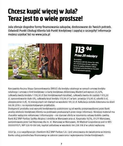 Jula gazetka promocyjna od 2016-09-01, strona 7