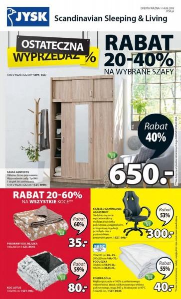 Jysk gazetka promocyjna od 2019-08-01, strona 1