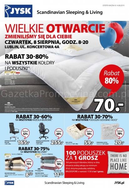 Jysk gazetka promocyjna od 2019-08-08, strona 1