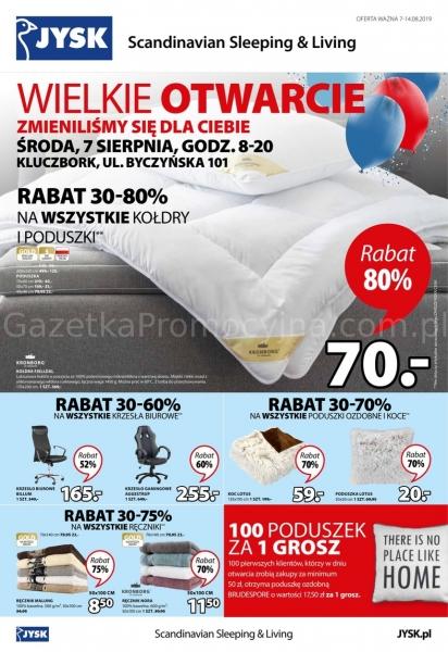 Jysk gazetka promocyjna od 2019-08-07, strona 1
