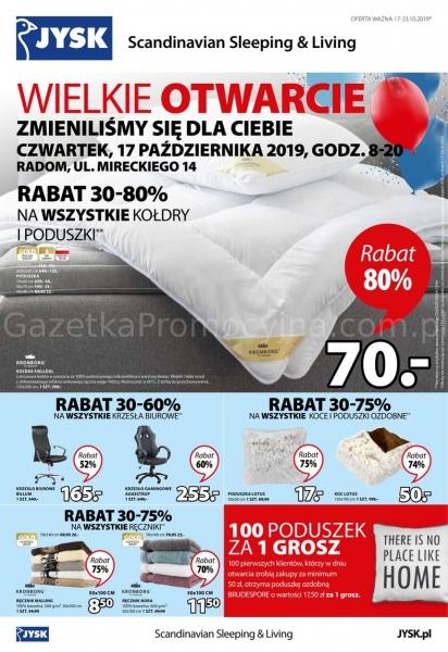 Jysk gazetka promocyjna od 2019-10-17, strona 1