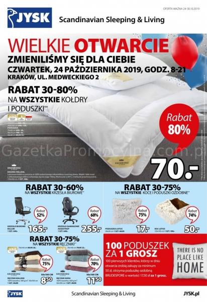 Jysk gazetka promocyjna od 2019-10-24, strona 1