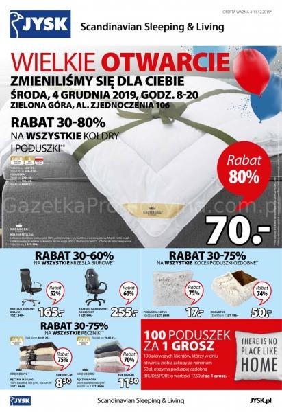Jysk gazetka promocyjna od 2019-12-04, strona 1