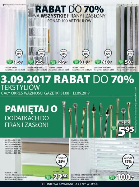 Jysk gazetka promocyjna od 2017-08-31, strona 5