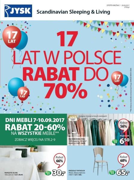 Jysk gazetka promocyjna od 2017-09-07, strona 1