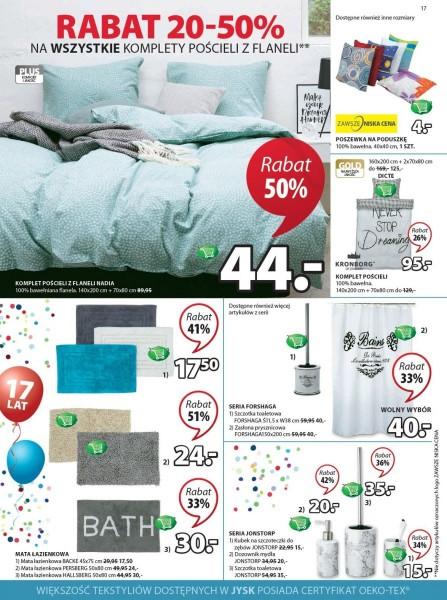 Jysk gazetka promocyjna od 2017-09-07, strona 17