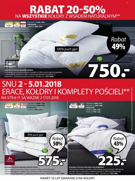 Jysk gazetka promocyjna od 2018-01-02, strona 7