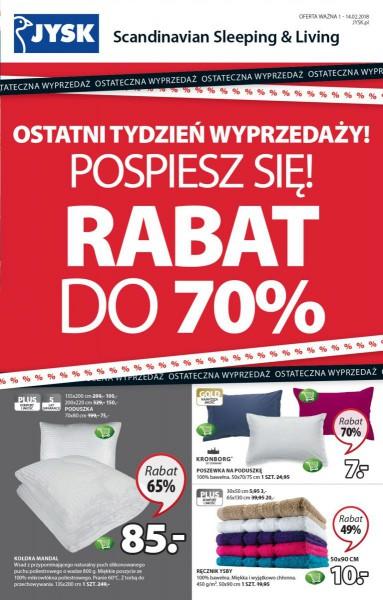 Jysk gazetka promocyjna od 2018-02-01, strona 1
