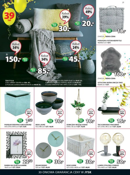 Jysk gazetka promocyjna od 2018-04-05, strona 21