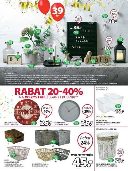 Jysk gazetka promocyjna od 2018-04-05, strona 22