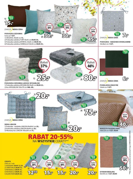 Jysk gazetka promocyjna od 2018-04-12, strona 15