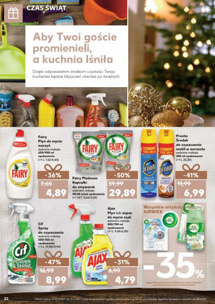Kaufland gazetka promocyjna od 2017-12-07, strona 22