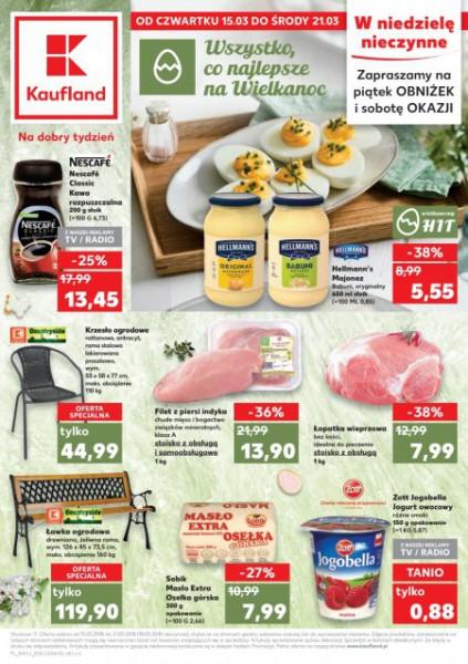 Kaufland gazetka promocyjna od 2018-03-15, strona 1