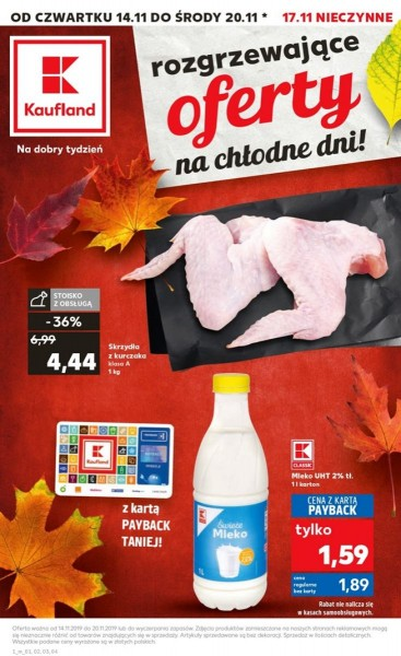 Kaufland gazetka promocyjna od 2019-11-14, strona 1