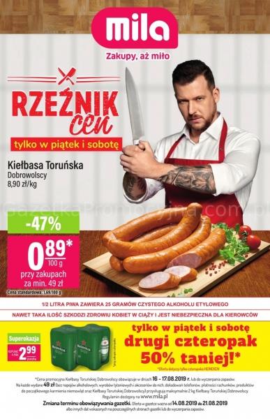 Mila gazetka promocyjna od 2019-08-14, strona 1