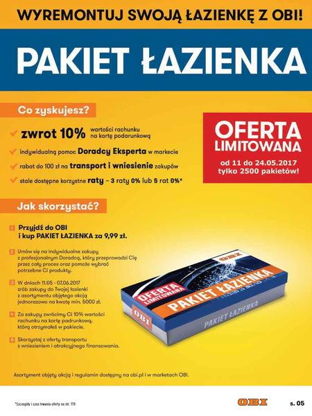 Obi gazetka promocyjna od 2017-05-11, strona 5