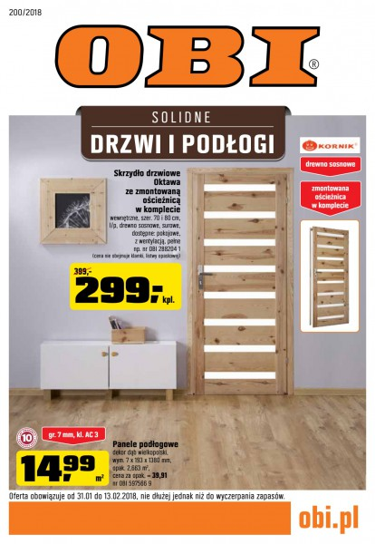 Obi gazetka promocyjna od 2018-01-31, strona 1