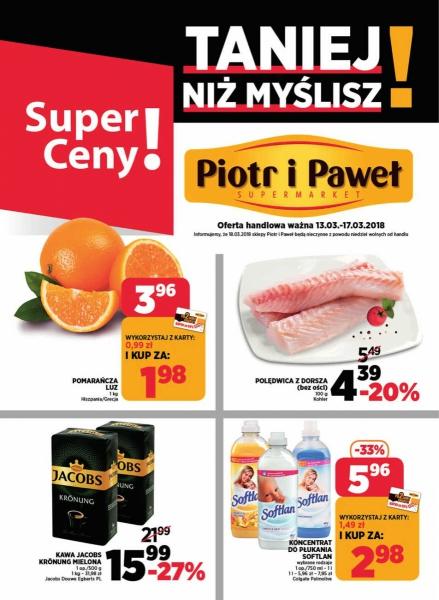 Piotr i Paweł gazetka promocyjna od 2018-03-13, strona 1