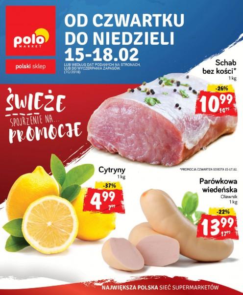 POLOmarket gazetka promocyjna od 2018-02-15, strona 1