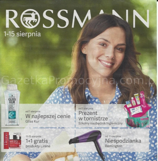 Rossmann gazetka promocyjna od 2019-08-01, strona 1