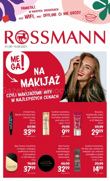 Rossmann gazetka promocyjna od 2021-09-01, strona 1