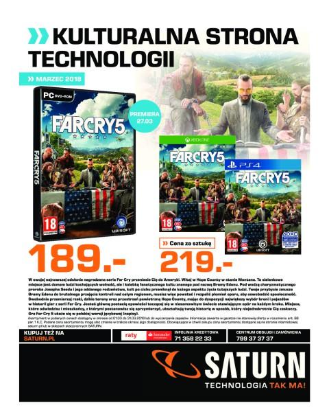 Saturn gazetka promocyjna od 2018-03-01, strona 1
