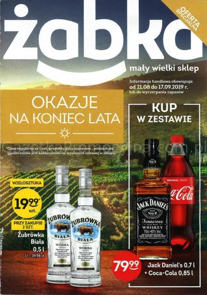 Żabka gazetka promocyjna od 2019-08-21, strona 1